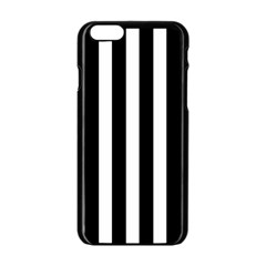 Classic Black and White Football Soccer Referee Stripes Apple iPhone 6/6S Black Enamel Case