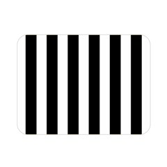 Classic Black and White Football Soccer Referee Stripes Double Sided Flano Blanket (Mini)