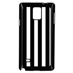 Classic Black and White Football Soccer Referee Stripes Samsung Galaxy Note 4 Case (Black)