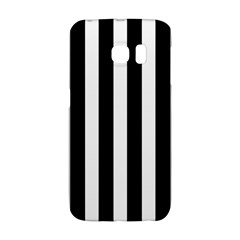 Classic Black And White Football Soccer Referee Stripes Galaxy S6 Edge