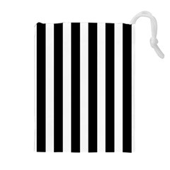 Classic Black And White Football Soccer Referee Stripes Drawstring Pouches (extra Large)