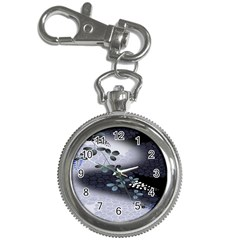 Abstract Black And Gray Tree Key Chain Watches