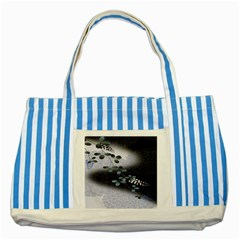 Abstract Black And Gray Tree Striped Blue Tote Bag