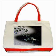 Abstract Black And Gray Tree Classic Tote Bag (red)