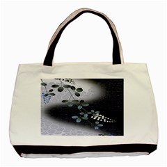 Abstract Black And Gray Tree Basic Tote Bag (two Sides)
