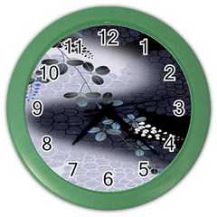 Abstract Black And Gray Tree Color Wall Clocks