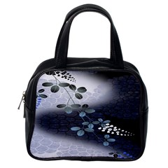 Abstract Black And Gray Tree Classic Handbags (One Side)