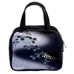 Abstract Black And Gray Tree Classic Handbags (2 Sides)