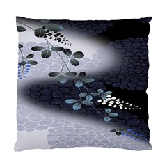 Abstract Black And Gray Tree Standard Cushion Case (one Side)