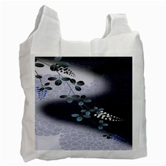 Abstract Black And Gray Tree Recycle Bag (two Side)