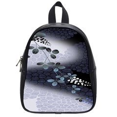 Abstract Black And Gray Tree School Bags (Small)