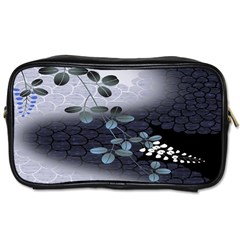 Abstract Black And Gray Tree Toiletries Bags 2 Side