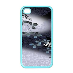 Abstract Black And Gray Tree Apple iPhone 4 Case (Color)