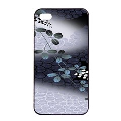 Abstract Black And Gray Tree Apple Iphone 4/4s Seamless Case (black)