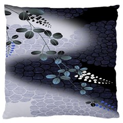 Abstract Black And Gray Tree Large Cushion Case (Two Sides)