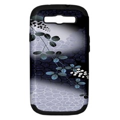Abstract Black And Gray Tree Samsung Galaxy S Iii Hardshell Case (pc+silicone)
