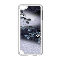 Abstract Black And Gray Tree Apple Ipod Touch 5 Case (white)
