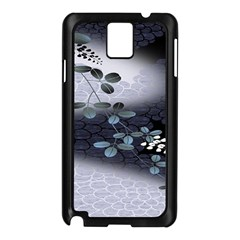 Abstract Black And Gray Tree Samsung Galaxy Note 3 N9005 Case (Black)
