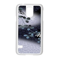 Abstract Black And Gray Tree Samsung Galaxy S5 Case (white)