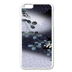 Abstract Black And Gray Tree Apple Iphone 6 Plus/6s Plus Enamel White Case