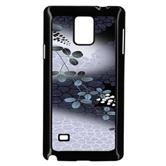 Abstract Black And Gray Tree Samsung Galaxy Note 4 Case (Black)
