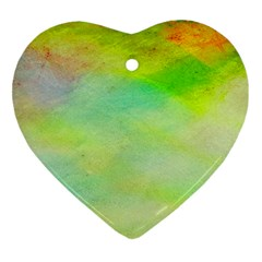 Abstract Yellow Green Oil Ornament (Heart)