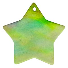 Abstract Yellow Green Oil Ornament (Star)