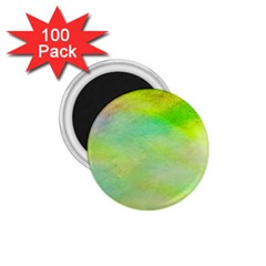 Abstract Yellow Green Oil 1 75  Magnets (100 Pack)