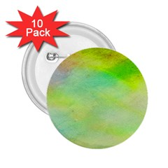 Abstract Yellow Green Oil 2.25  Buttons (10 pack)