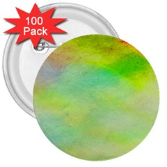 Abstract Yellow Green Oil 3  Buttons (100 pack)
