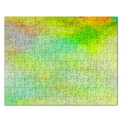 Abstract Yellow Green Oil Rectangular Jigsaw Puzzl