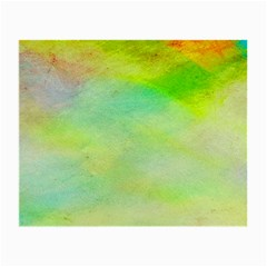 Abstract Yellow Green Oil Small Glasses Cloth