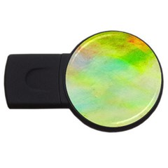 Abstract Yellow Green Oil Usb Flash Drive Round (4 Gb)