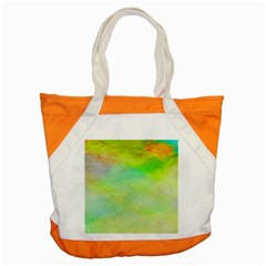 Abstract Yellow Green Oil Accent Tote Bag