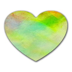 Abstract Yellow Green Oil Heart Mousepads