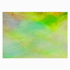 Abstract Yellow Green Oil Large Glasses Cloth (2-Side)