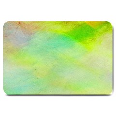 Abstract Yellow Green Oil Large Doormat