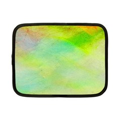 Abstract Yellow Green Oil Netbook Case (Small)