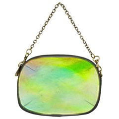 Abstract Yellow Green Oil Chain Purses (one Side)