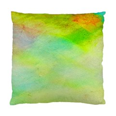 Abstract Yellow Green Oil Standard Cushion Case (Two Sides)