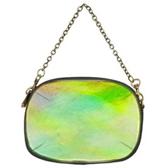 Abstract Yellow Green Oil Chain Purses (two Sides)