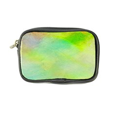 Abstract Yellow Green Oil Coin Purse
