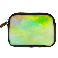 Abstract Yellow Green Oil Digital Camera Cases