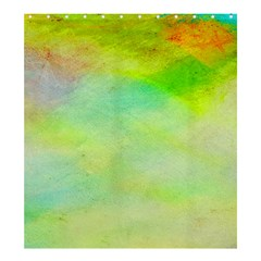 Abstract Yellow Green Oil Shower Curtain 66  x 72  (Large)