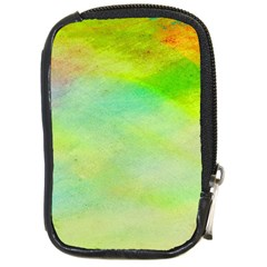 Abstract Yellow Green Oil Compact Camera Cases