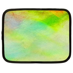Abstract Yellow Green Oil Netbook Case (XL)
