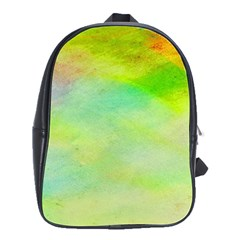 Abstract Yellow Green Oil School Bags(Large)