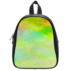 Abstract Yellow Green Oil School Bags (small)
