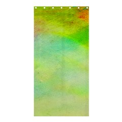 Abstract Yellow Green Oil Shower Curtain 36  x 72  (Stall)