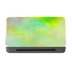 Abstract Yellow Green Oil Memory Card Reader With Cf